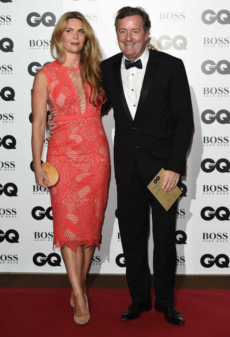 GQ AWARDS: Piers Morgan (50) og Celia Walden (39). Foto: Xposure