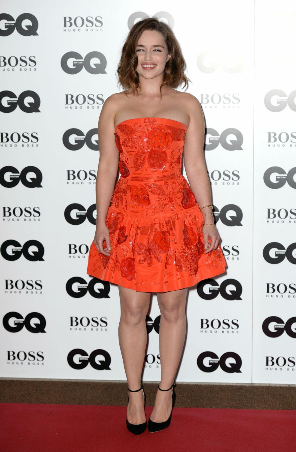 GQ AWARDS: Emilia Clarke (28). Foto: Pa Photos
