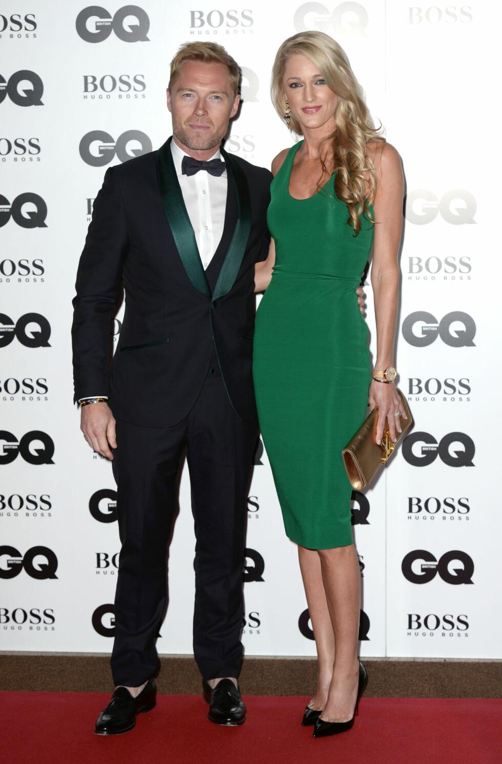 GQ AWARDS: Ronan Keating (38) og Storm Uechtritz (34). Foto: Pa Photos