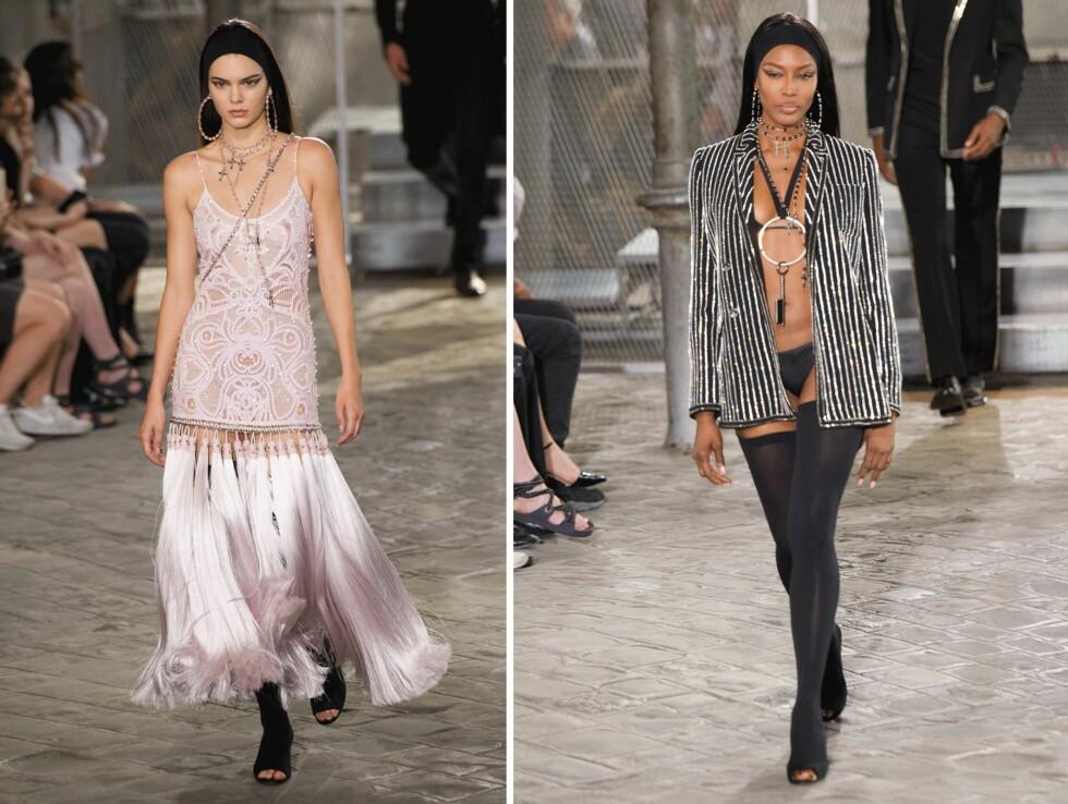 KJENTE MODELLER: Både Kendall Jenner (19) og Naomi Campbell (45) har gått visninger for Givenchy.  Foto: Scanpix