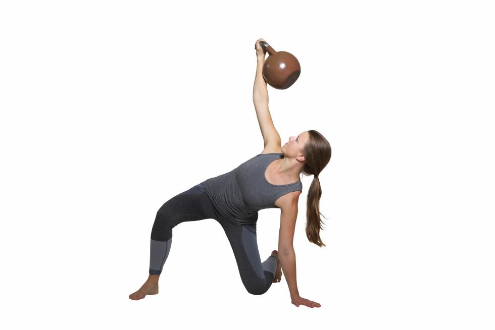 <strong>GET-UP:</strong> Press hofta godt opp. Foto: Frederikke Heiberg