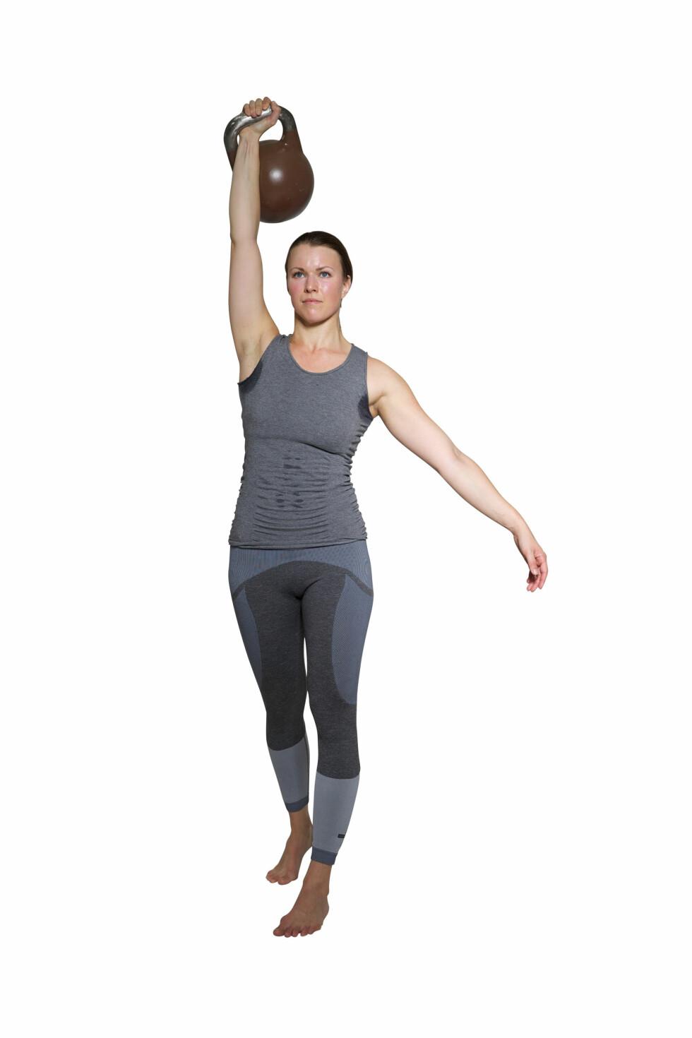 <strong>GET-UP:</strong> Husk å stramme rygg og mage under hele øvelsen. Foto: Frederikke Heiberg