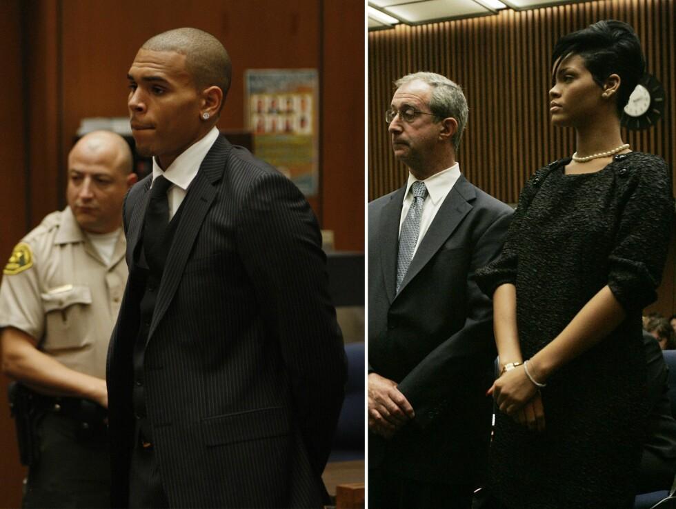 I RETTEN: Chris Brown overfalt sin daværende kjæreste Rihanna.  Foto: Scanpix