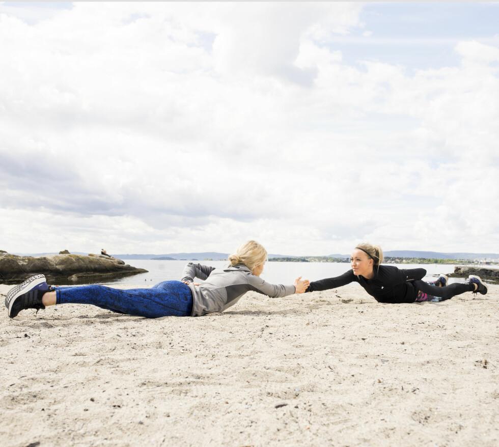 DETTE TRENER DU: Rygg og mage. Foto: Lars Erik Bakken
