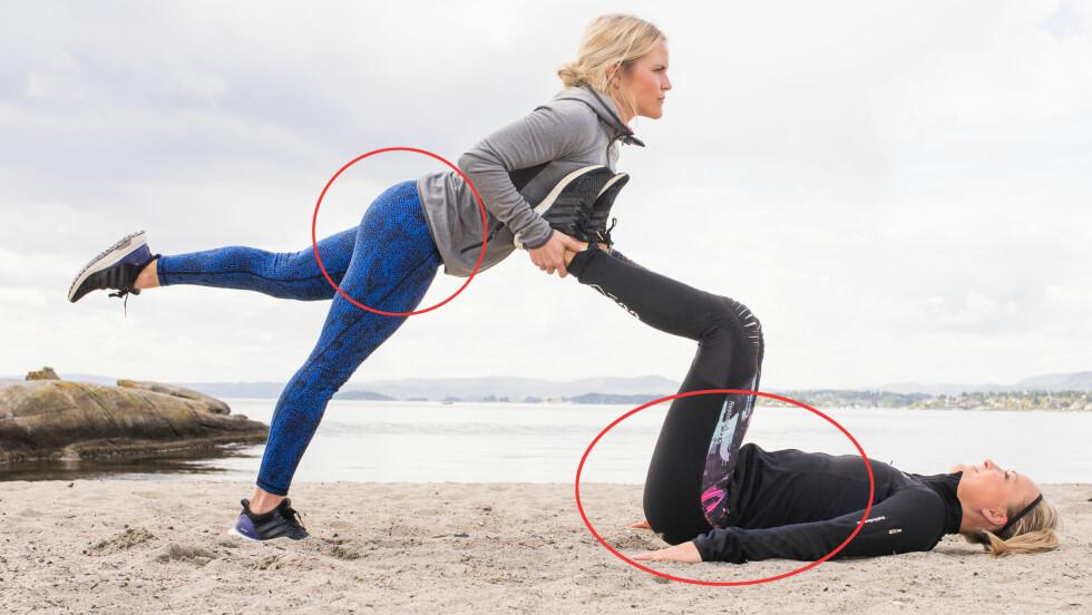 STRAM OPP: I denne saken får du tips til 5 øvelser som er knallbra for rumpe, mage og bein! Denne (som du ser beskrivelse av lenger ende) er supereffektiv!. Foto: Lars Erik Bakken