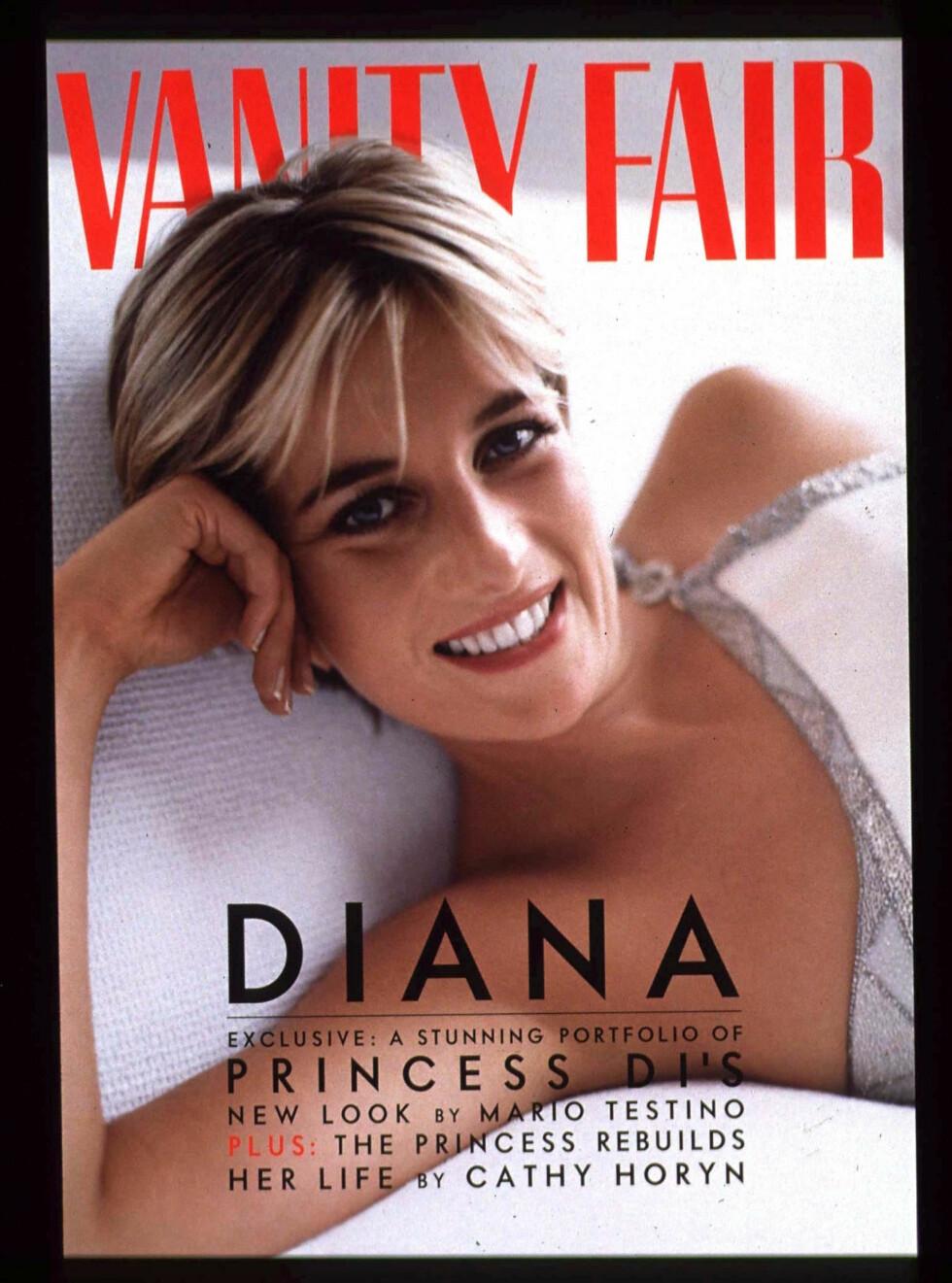 Prinsesse Diana på coveret av Vanity Fairs juliutgave i 1997. Foto: REUTERS