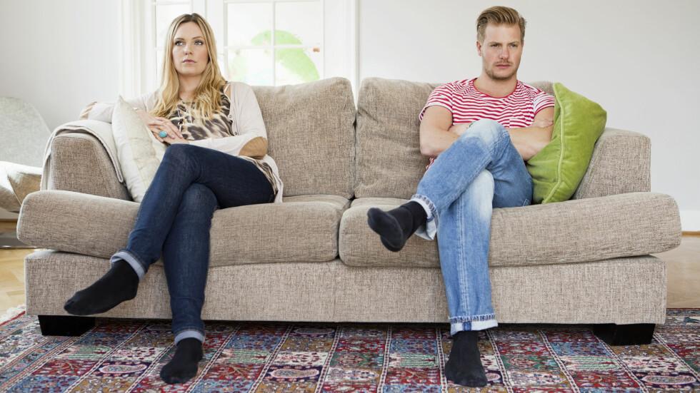 KAN FORSTÅS ULIKT: Slenger du eller partneren din ofte med leppa mot hverandre kan den ene se på det som ubetydelig erting, mens den andre blir såret. Derfor er det viktig å ta det opp om det blir for mye. Foto: Scanpix