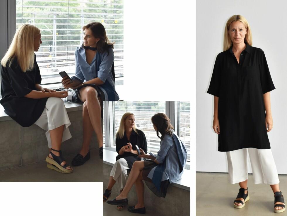 FILIPPA K: Moteredaktør Darja Barannik møtte sjefdesigner Nina Bogstedt under moteuken i Stockholm. Les intervjuet her!  Foto: Darja Barannik