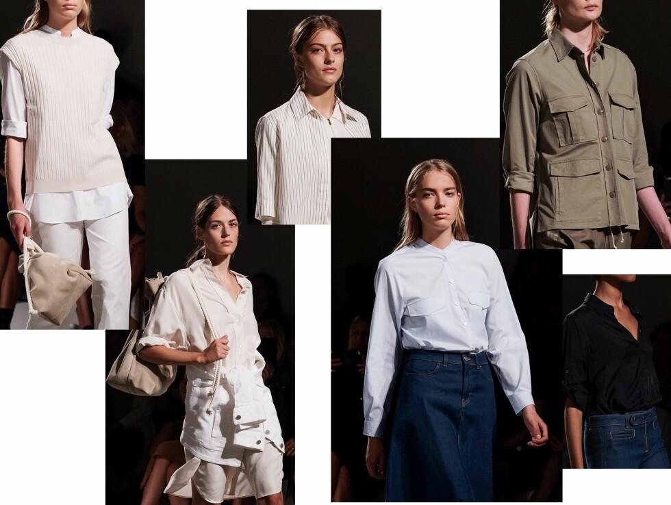 FILIPPA K: Skjorten ble presentert i ulike stiler, farger og materialer.  Foto: Stockholm Fashion Week