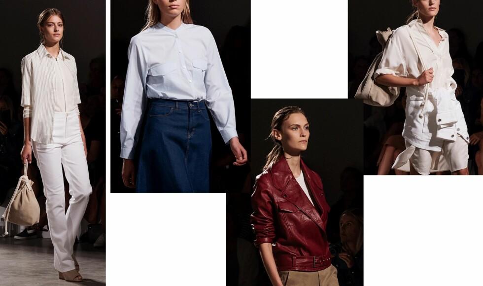 FILIPPA K: Presenterte en kolleksjon som var avslappet og feminin med fokus på naturlige materialer.  Foto: Stockholm Fashion Week