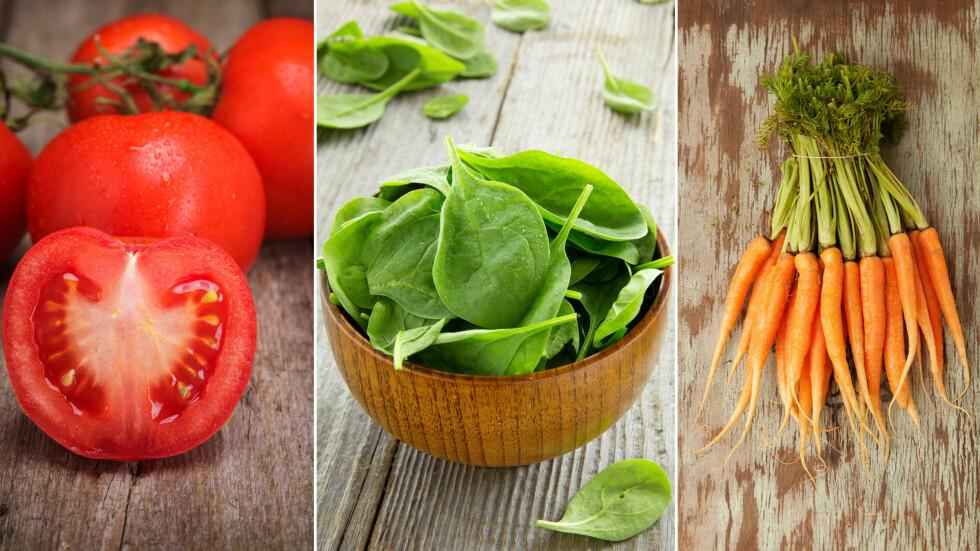 SPIS MER GRØNT: Ifølge helsedirektoratet er det kun 13 prosent av kvinner som får i seg den anbefalte mengden grønnsaker om dagen, så alle kan med fordel øke inntaket. Foto: Fotolia