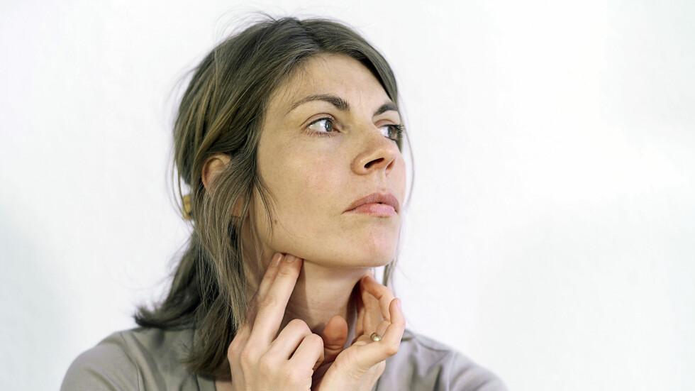 HOVNE MANDLER: Legen ser som regel at det er kyssesyken du har fått, mandlene og lymfeknuter i halsen hovner opp.  Foto: Scanpix
