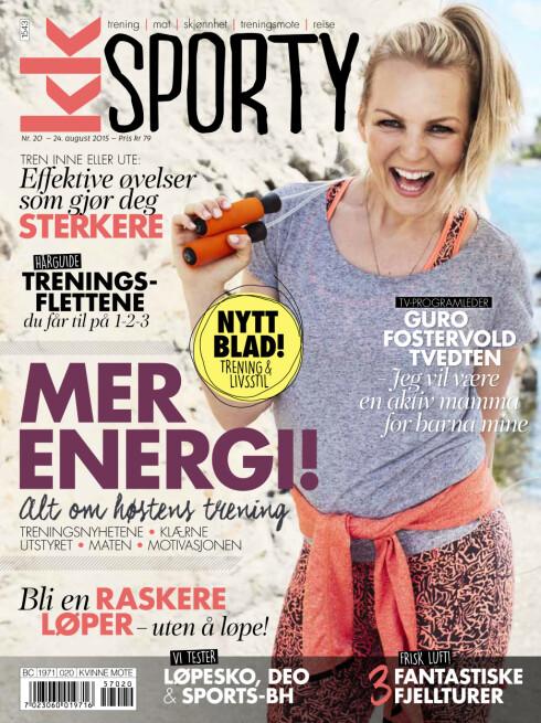 COVERJENTE: Guro Fostervold pryder coveret på KK Sporty som er i salg fra 24. august.