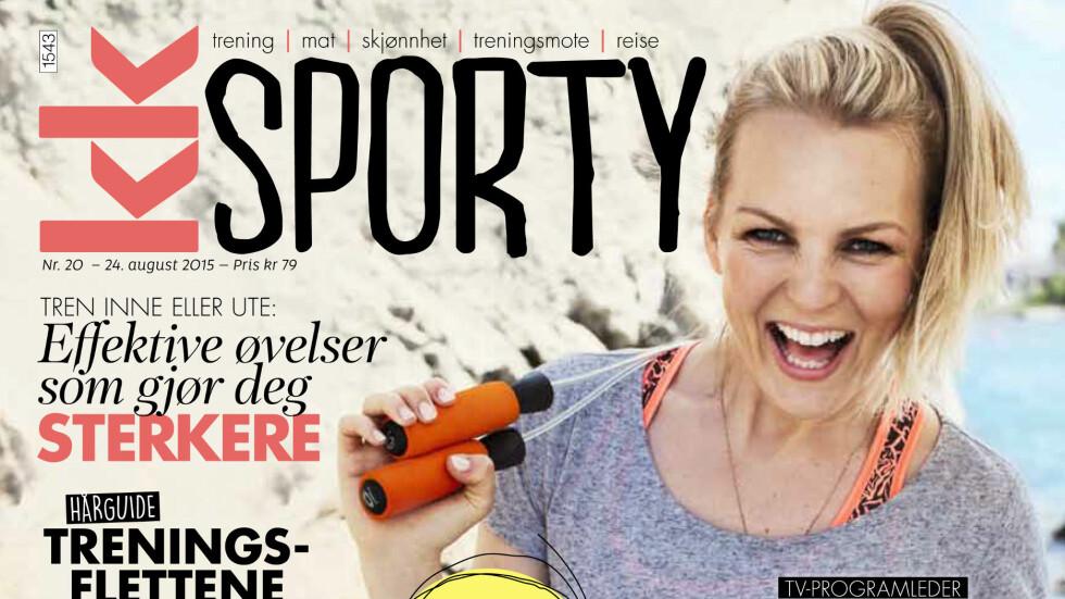 NYTT TRENINGSBLAD I SALG NÅ: KK Sporty er ute i butikkhyllene fra mandag 24. august! Foto: Ida Bjørvik