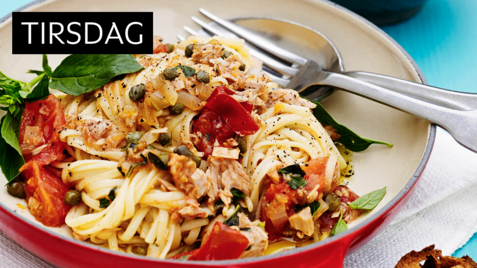 FISK: Pasta og fisk smaker helt supert sammen! Foto: All Over Press