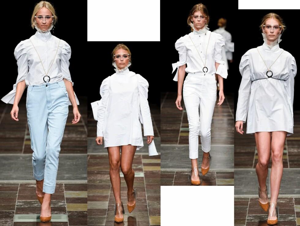 Leken minimalisme: Lyse antrekk med flagrende gevanter og viktorianske kraver.  Foto: produsentene