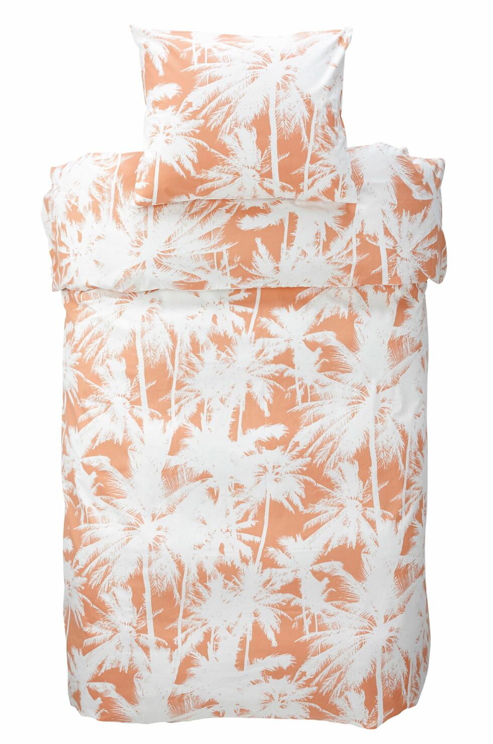 Sengesett med palmesus (kr 150, ellos.no). Foto: Produsenten