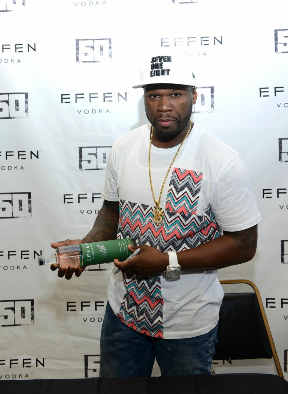 """BAR ARM: Man kan nesten ikke se lenger at Curtis """"50 Cent"""" Jackson venstre underarm var dekket av tatoveringer den og. Foto: Scanpix"""