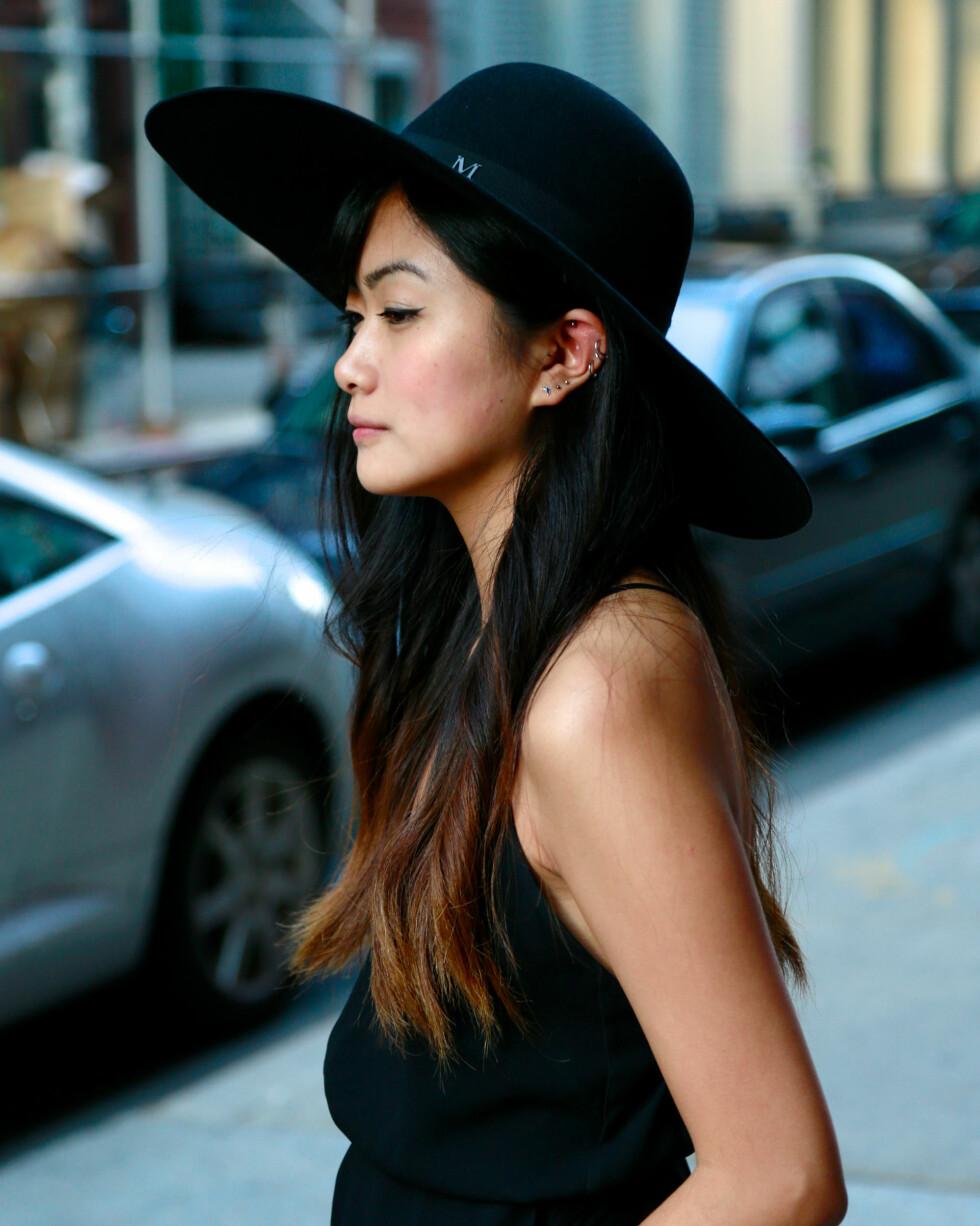 Bruk hatt i sommer: Yewon Kim iført favoriotthatten fra Maison Michel. Foto: Scanpix