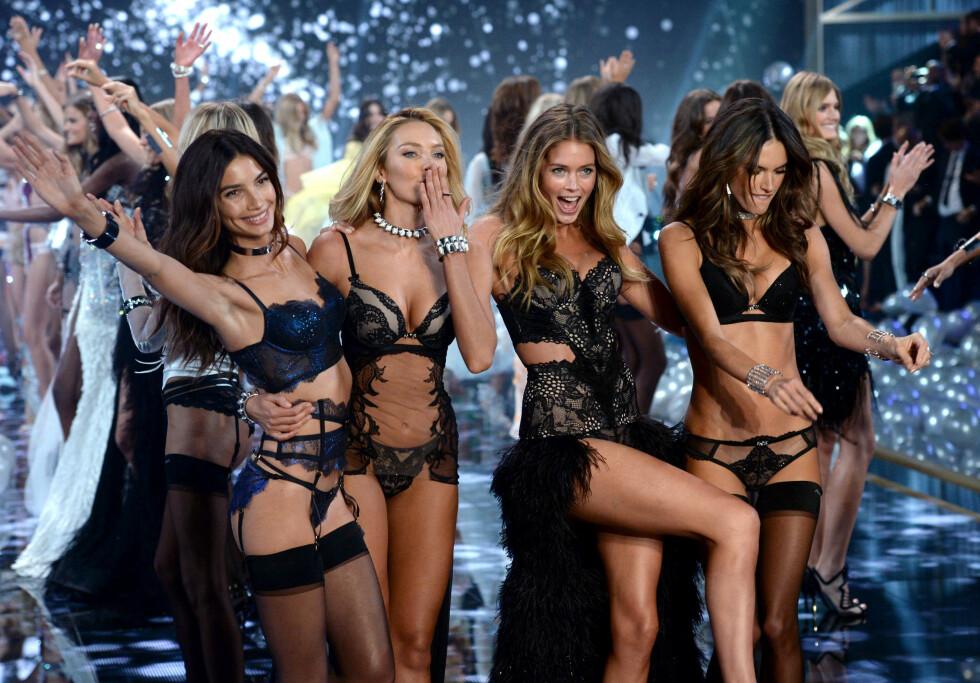 <strong>VISER UNDERTØYSKOLLEKSJON PÅ TV:</strong> Victoria&#039;s Secret Fashion Show blir bare større og større for hvert år. Foto: Pa Photos