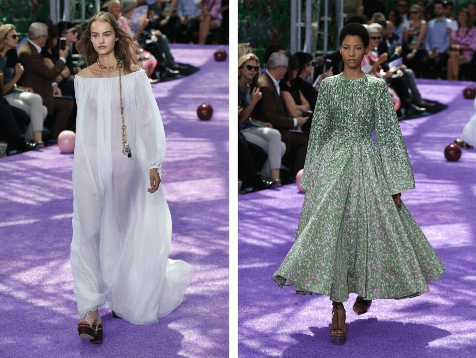 <strong>FRA KOLLEKSJONEN:</strong> Sommerlige looks fra Dior. Foto: Scanpix