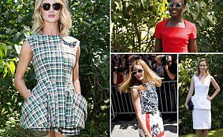 Stjernespekket oppmøte på visningen til Dior