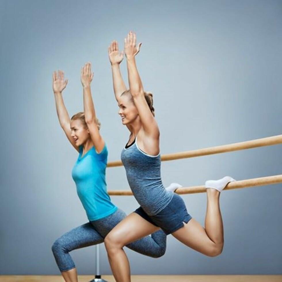 BALLETT: Barre er navnet på Sats Elixias nye ballettime, som er en av høstens treningsnyheter.  Foto: Sats Elixia