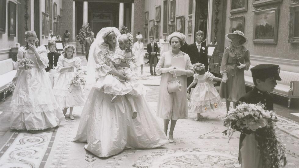BRYLLUPSBILDER: Det har nylig dukket opp en rekke bilder fra bryllupet til Diana og Charles som aldri har blitt sett før.  Foto: Polaris