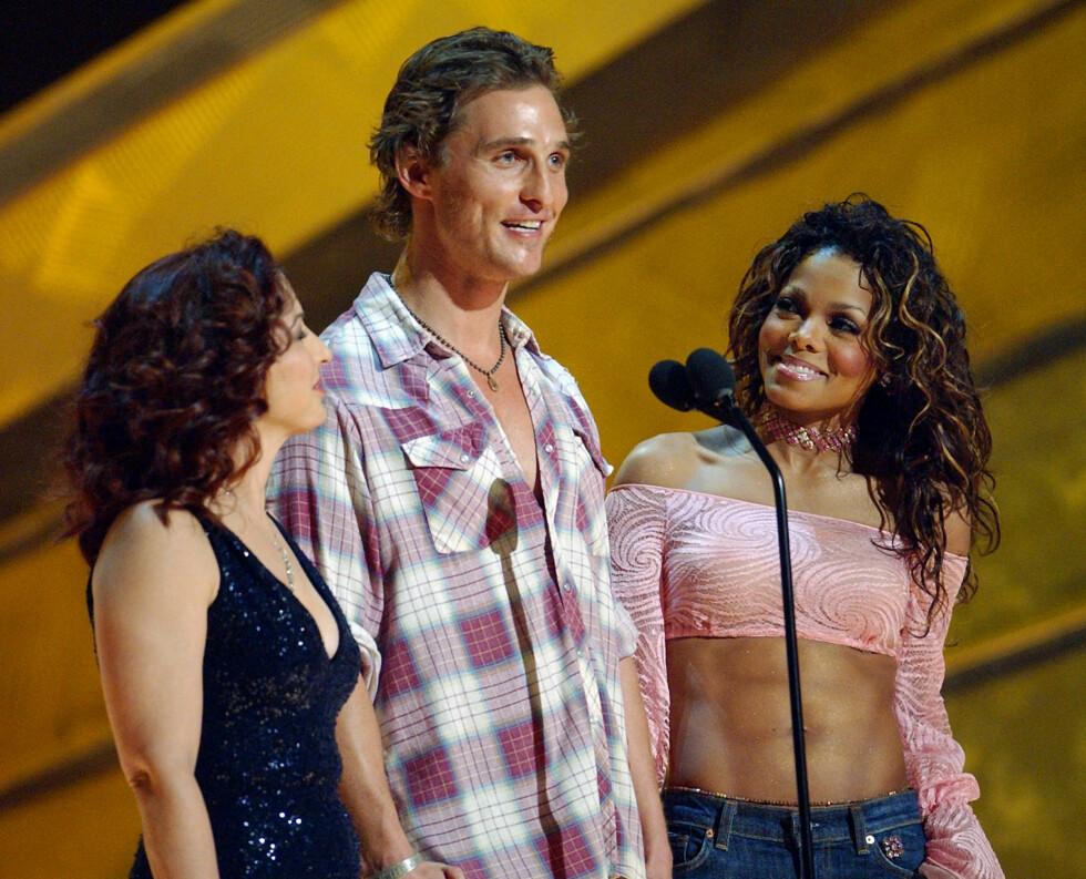 PÅ GRAMMY AWARDS: Matthew McConaughey og Janet Jackson skal ha datet etter å ha møttes på prisutdelingen. Foto: AP