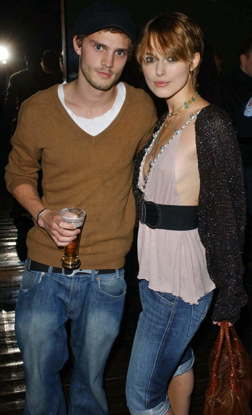 UKJENT KJÆRESTE: Da Keira Knightley datet Jamie Dornan var han kun kjent som Calvin Klein-modell. Nå har han rollen i Fifty Shades of Grey. Foto: Pa Photos