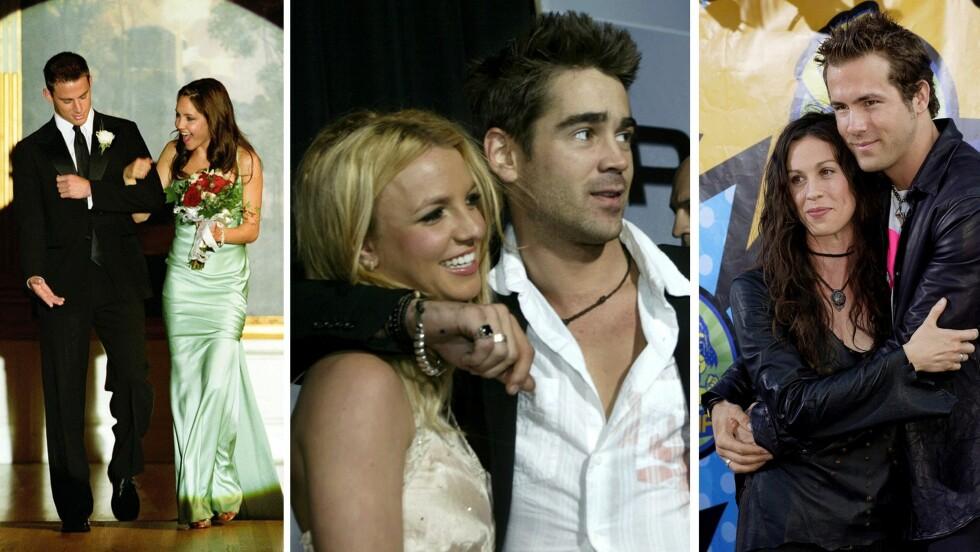 FORLOVET I TO ÅR: Hvem av disse parene var forlovet i to år? Svaret ligger nede i saken! Foto: Scanpix