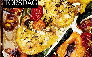 Grønnsak- og kyllingform