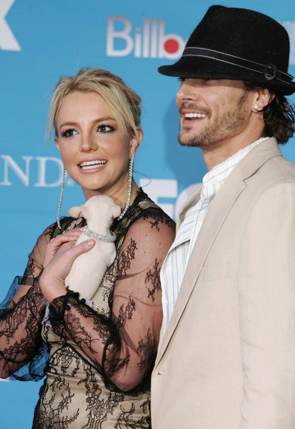 2004: Britney Spears (33) og eksmannen Kevin Federline (37). Foto: AFP