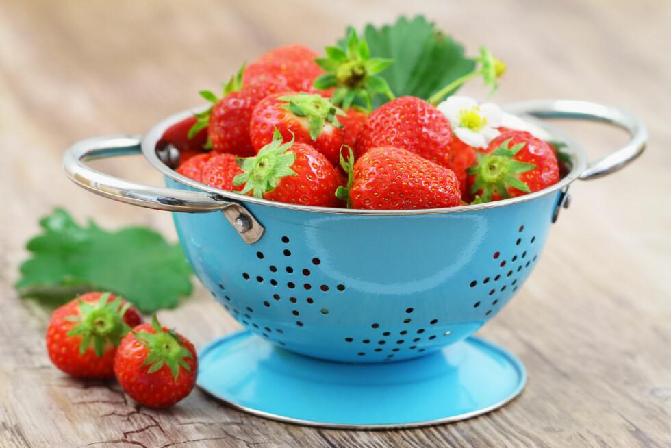 SPIS MER JORDBÆR: Tidligere studier har vist at inntak av jordbær kan bidra til å redusere risikoen for kreft og tidlig aldring.  Foto: graletta - Fotolia
