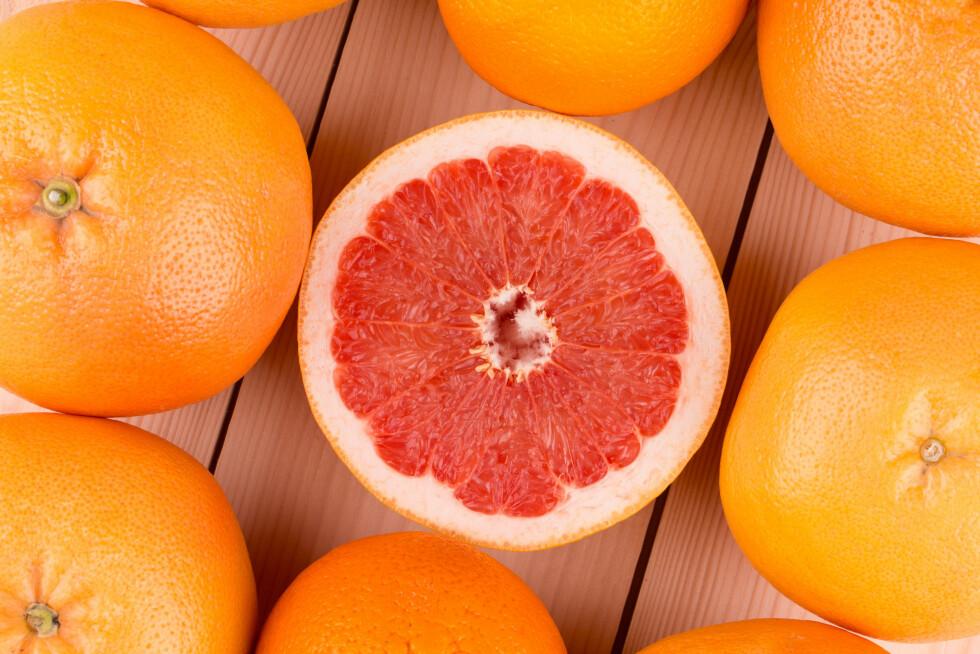 GRAPEFRUKT: Den positive effekten på blodårene kan kobles til flavanoner som finnes i grapefrukt.   Foto: indigolotos - Fotolia