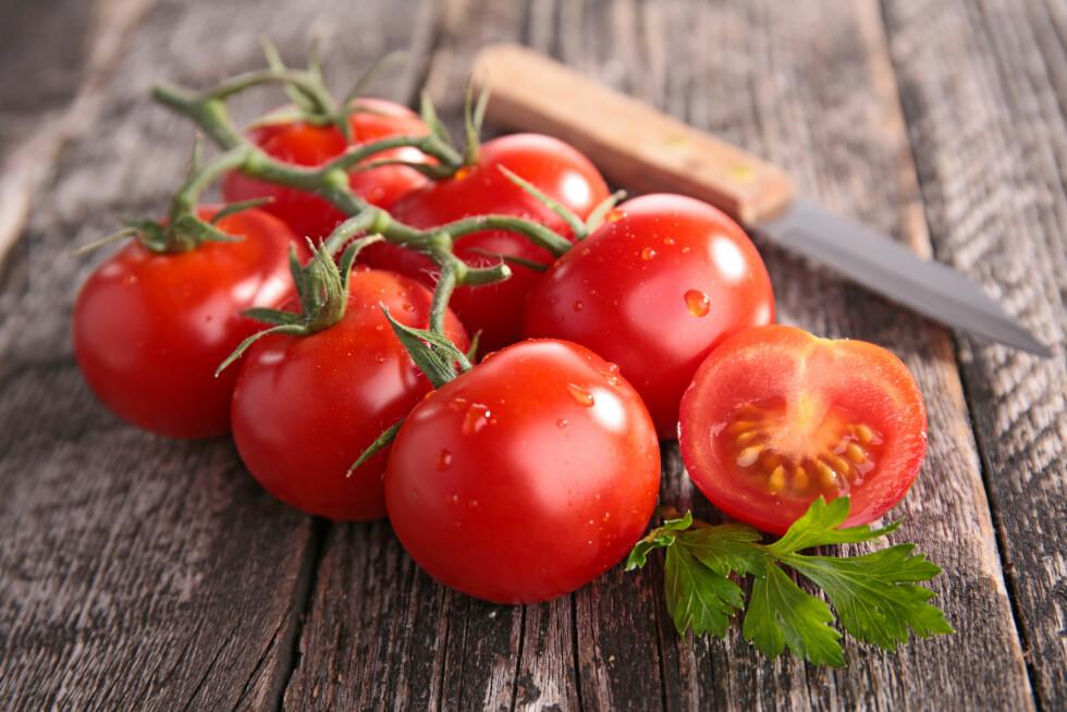 TOMATER: Ifølge forskning skal tomater kunne redusere risikoen for hjertesykdom med en fjerdedel.  Foto: M.studio - Fotolia