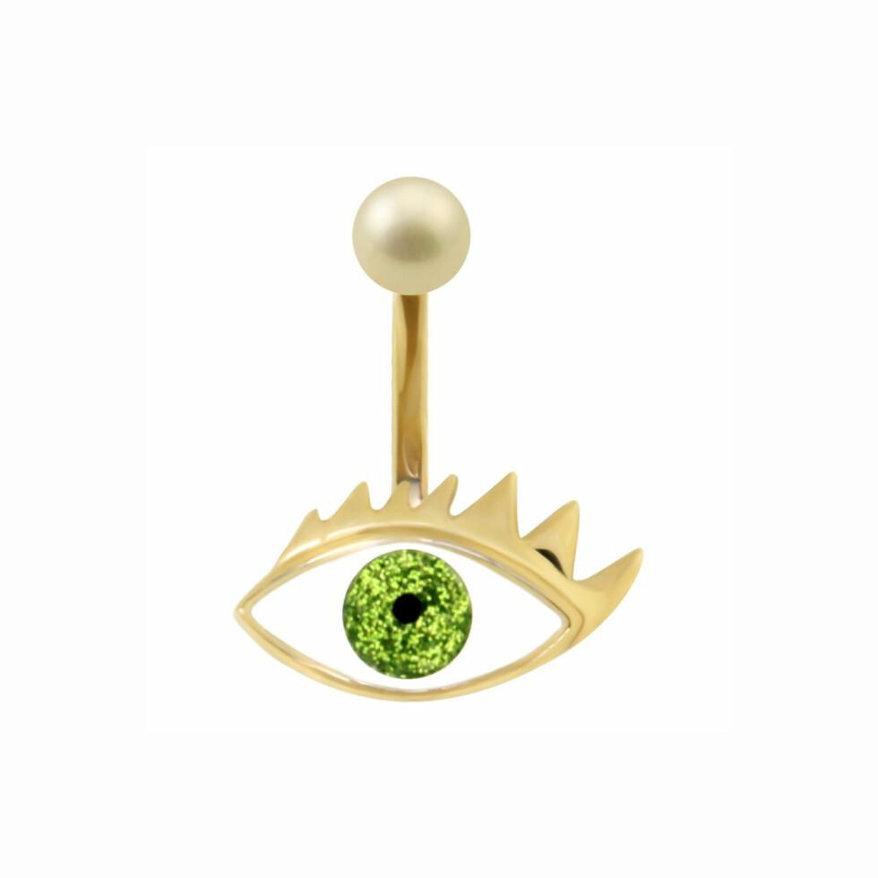 EYECANDY: Delfina Delettrez er kjent for sitt øye-inspirerte design. Kronprinsesse Mette-Marits ring koster 3800 kroner og består av gult gull, emalje og en enkel perle.  Foto: Delfinadelettrez.com
