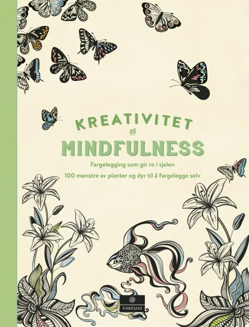 FARGELEGG: «Kreativitet og mindfulness, fargelegging som gir ro i sjelen» er en annen bok som også passer for deg som vil tegne. Foto: Cappelen Damm