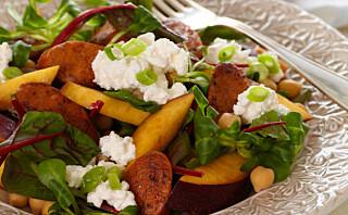 Mettende salat som slanker