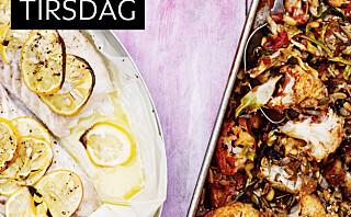 Bakt torsk med grønnsaks-crumble