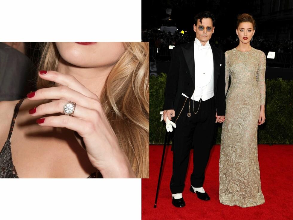 Johnny Depp (52) og Amber Heard (29). Foto: Scanpix