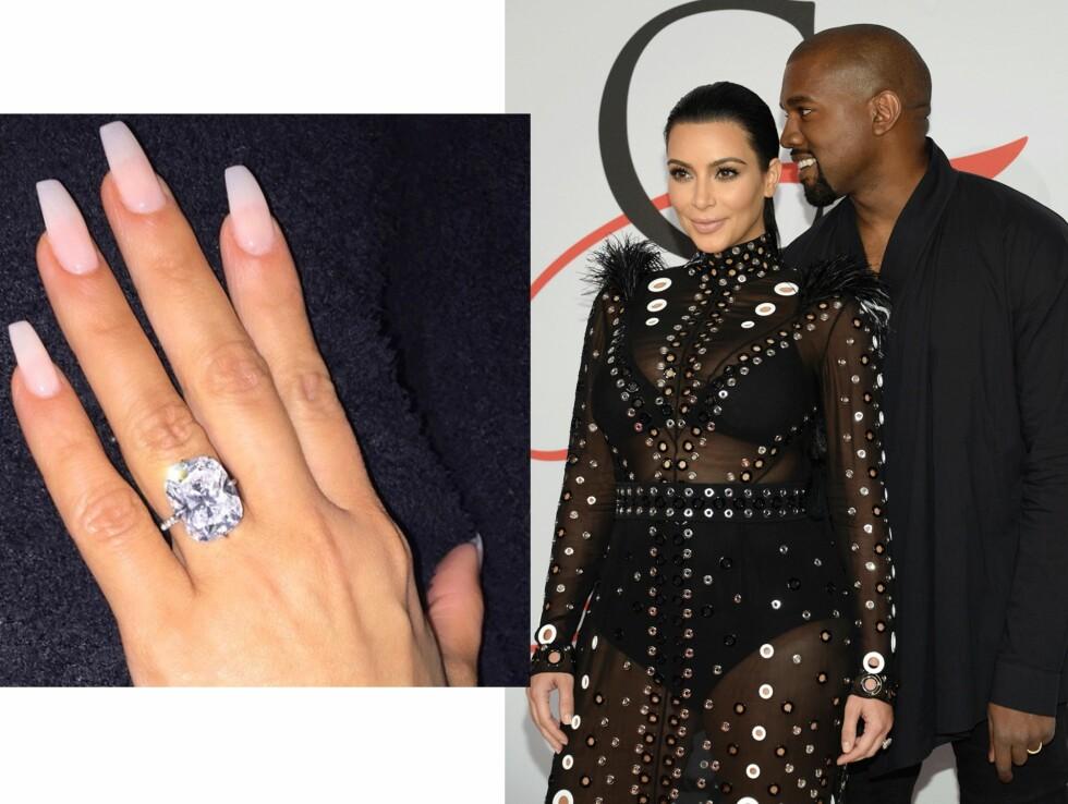 Kim Kardashian (34) og Kanye West (38). Foto: Scanpix