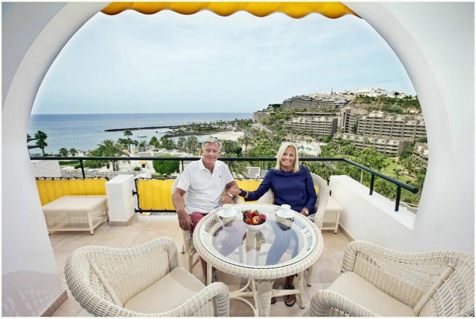 Sol og varme: Hytta på Beitostølen ble solgt til fordel for en leilighet på Gran Canaria hvor hun og Oddvar tilbringer store deler av året. – Jeg innbiller meg at det er bedre for kroppen min å være der nede. Foto: Tor Kvello