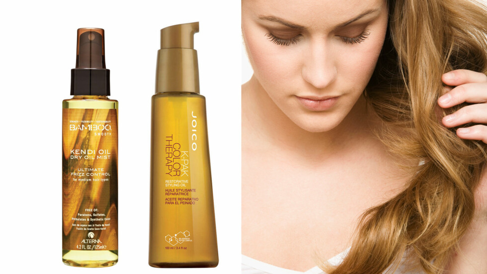 GOD PLEIE: Olje gjør håret sunt og glansfullt. Foto: Produsentene og Scanpix