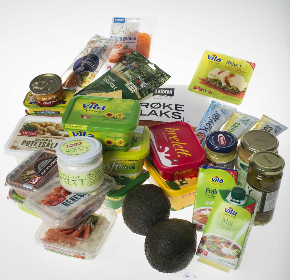 SUNNERE FETT: Her er matvarer som inneholder mer av det sunne, flerumettede fettet.  Foto: VG