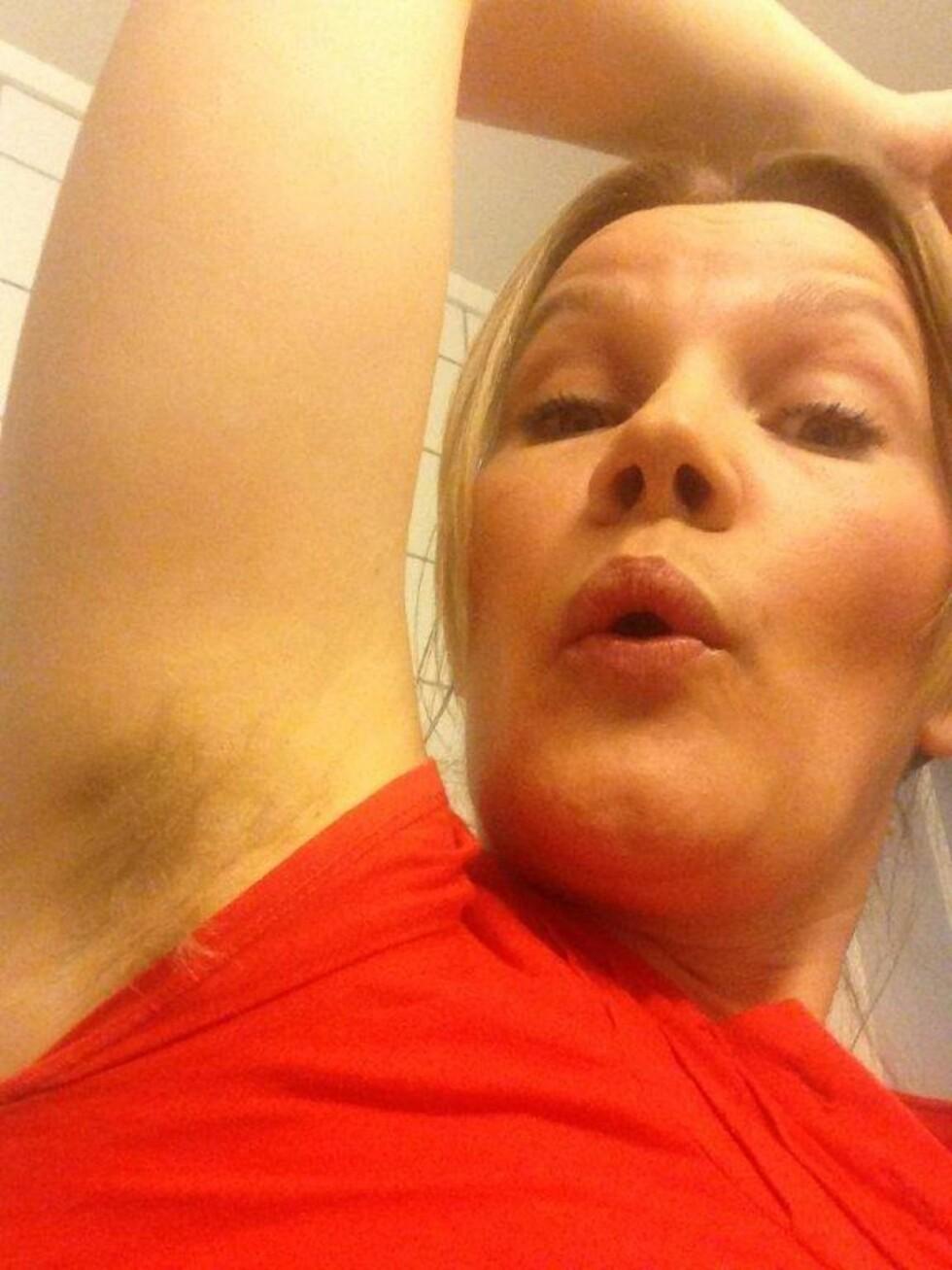 """VI TESTER: KKs egne journalist Gry Thune testet har testet """"hårtrenden"""".  Foto: KK"""