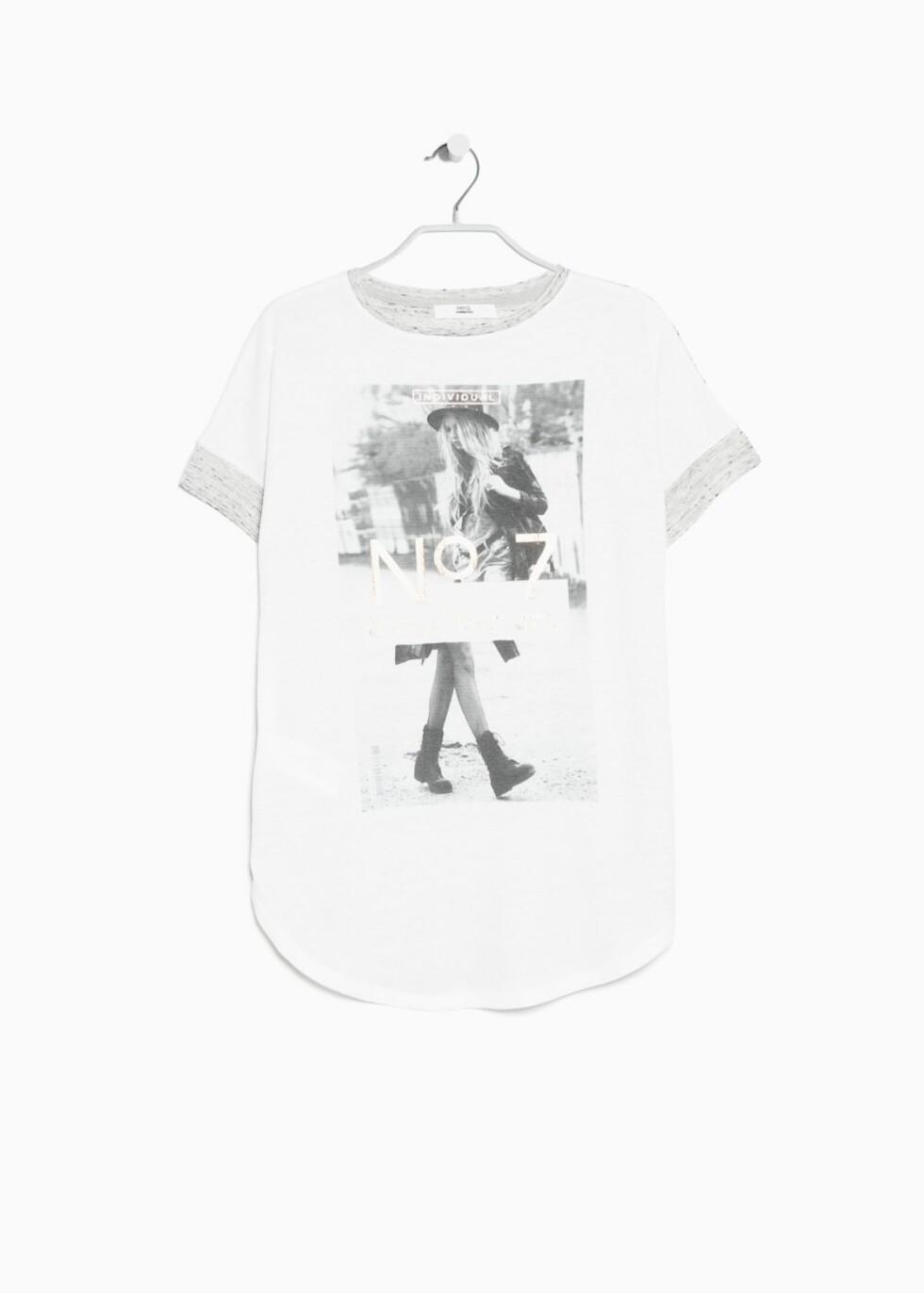 T-skjorte fra Mango, kr 99. Foto: Produsenten