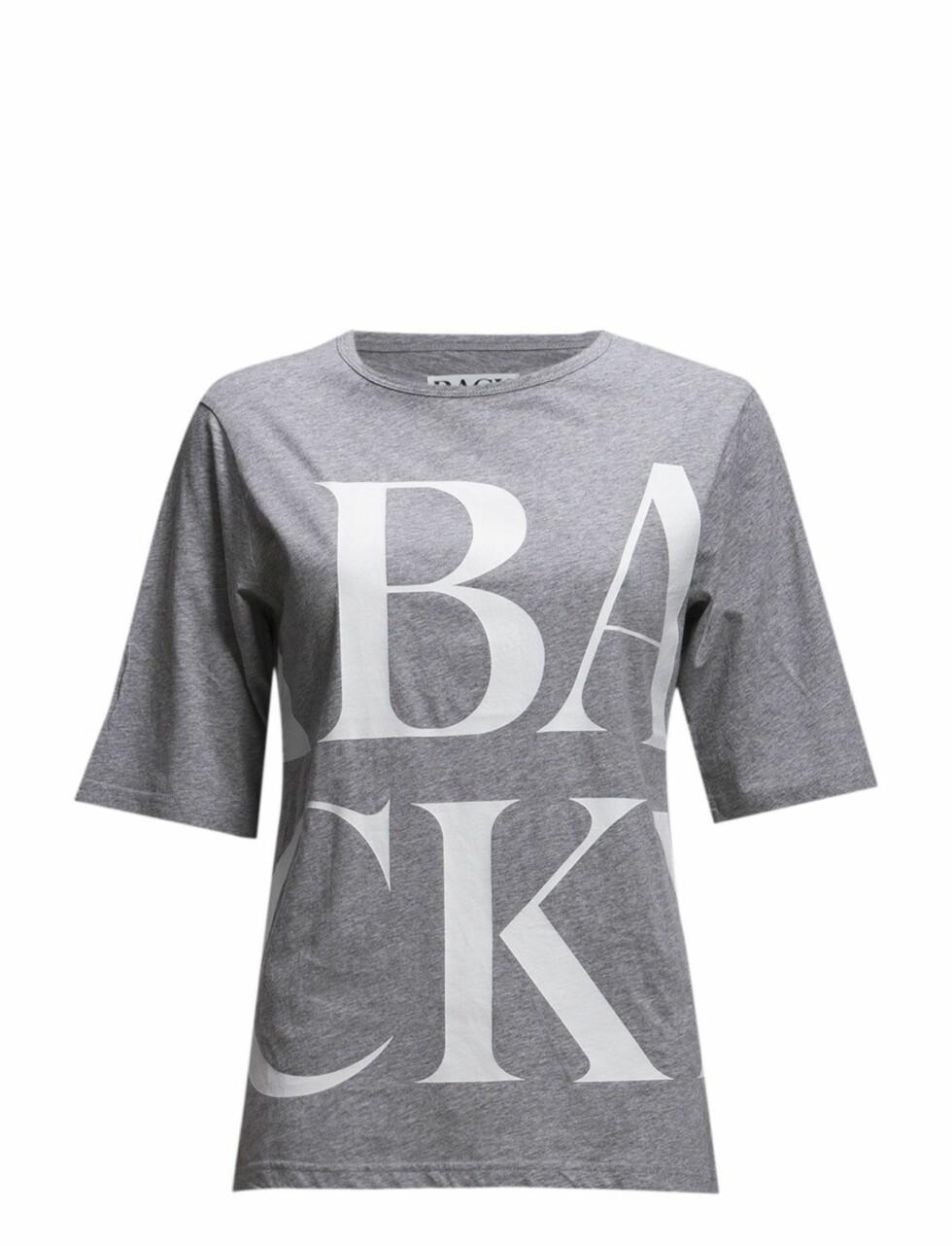 .T-skjorte fra BACK via Boozt.com, kr  Foto: Boozt.com