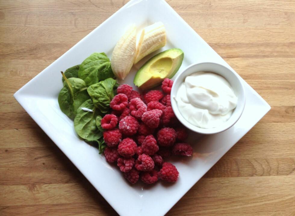 NÆRING: Avokado og spinat gir deg masse energi og næring å gå på, helt frem til lunsj. Foto: Linda Marie Stuhaug