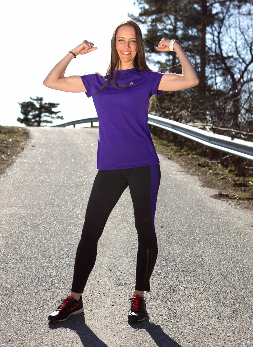 FULL AV KRUTT: -Jeg prøver å få tid til å trene, som å løpe eller drive yoga, sier Camilla.  Foto: Alf Øystein Støtvig